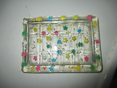 Beautiful Novelty Resin Soap Dish With Multi Coloured Stars