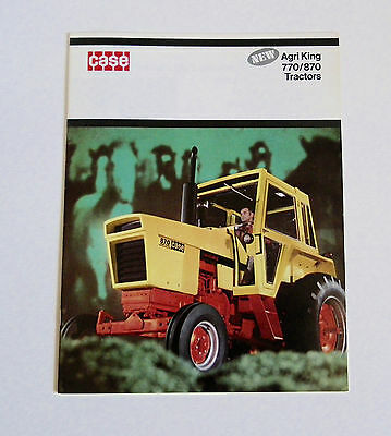1970's Case 770 870 Agri King Tractor Brochure