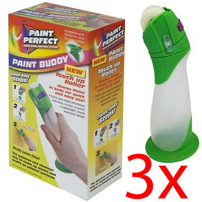3 X Paint Perfect Buddy Touch Up Roller Decorating Painting Tool Lightweight New