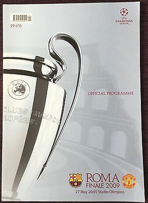 Autographed Programme 2009 Champions League Final Barcelona V Manchester United