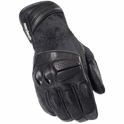 Cortech* NEW*GX Air-3 * MENS Textile MOTORCYCLE GLOVES *Black* Size Small