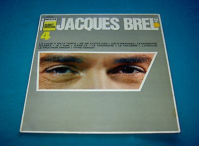 JACQUES BREL 4 FRANCOIS RAUBER Orchestre 1959 / 1961 Philips Stereo
