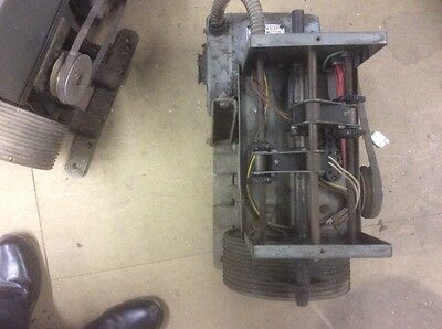 electric motors with stage curtain winding mech.