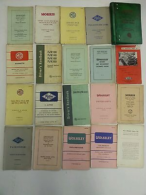 Morris Commercial, Riley, Woseley, MG, Lot of  Trade Schedules & Repairs