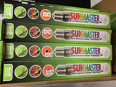 4 X 600w SUNMASTER DUAL SPECTRUM GROW LAMPS BULB LAMP BULBS HYDROPONICS