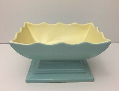 Hull Pottery 157 Blue Rectangular Candy Dish