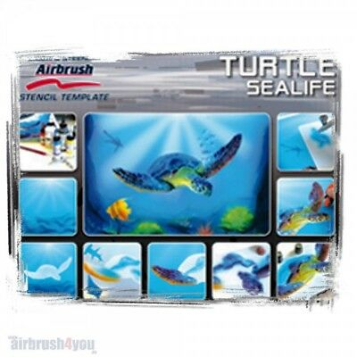 Turtle Sealife - Harder & Steenbeck Schablone 410138