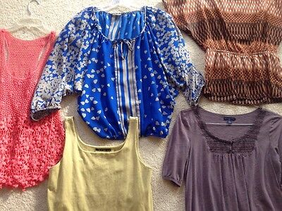 Lot 5 Women Junior Clothes Spring  Size S M Brand Forever 21 XXI  Express Eagle