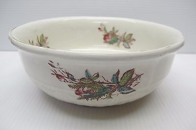 """1880's IRONSTONE CHINA SERVING BOWL~J.M&CO~RARE MEAKIN FLOWER PATTERN~8-1/8""""x3"""""""