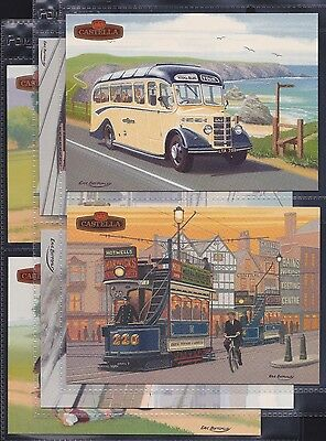 Wills Castella Issue, Britain's Motoring History, Set Of 6 Postcard Size (1993)