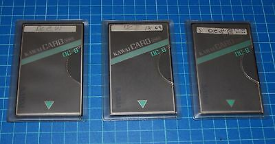 Kawai RAM CARD 3 Card DC-8 Lot TO BE TESTED for  K1 Series Synthesizer
