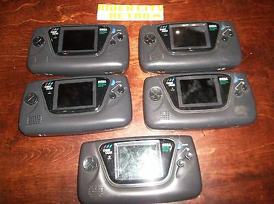 LOT of 5 Broken Non-Working Sega Game Gear Systems Consoles for Parts/Repair !