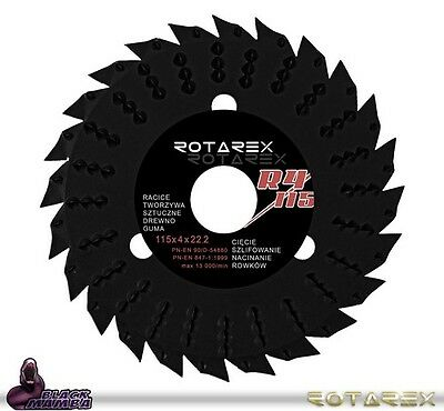 """Rotarex R4 115mm Universal Disc Wood Cutting Blade for 4-1/2"""" Grinder R4115"""