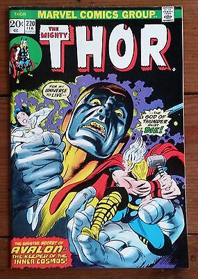 Thor 220, Feb 1974, Marvel Comics, Fn