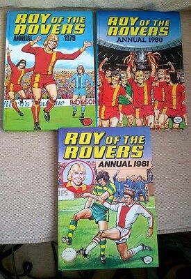 Roy of the Rovers Annual 1979, 1980, 1981