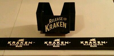 Kraken Rum Napkin Holder & Rail Mat