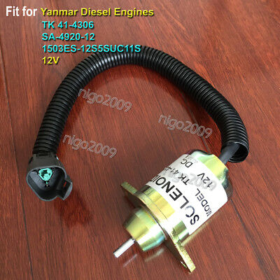 Thermo King 41-4306 Fuel Shutoff Solenoid Woodward SA-4920 for YANMAR Engines