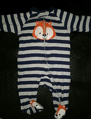 Carter's 3 Month's Fox Long Sleeve Onises with feet