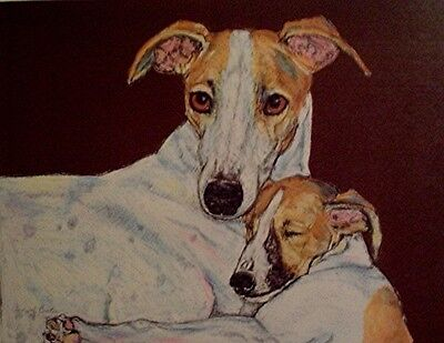 "Whippet print from original pastel ""MOM AND PUP"" by Cindy A. Conter #6 last one"