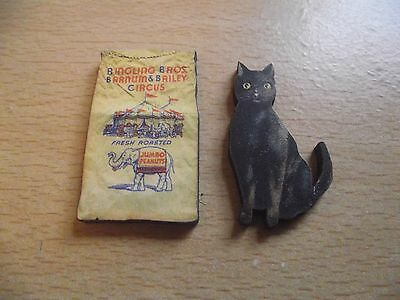 Small Wooden Crafting Embellishments - Black Cat, Circus, Carnival, Halloween