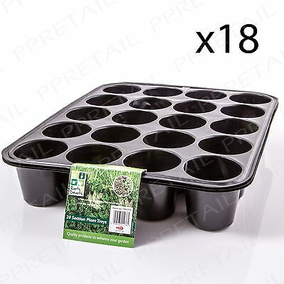 18x Seed Starting Pots 20 CELL PLANT TRAY Seedlings Root Cuttings Sowing Bedding