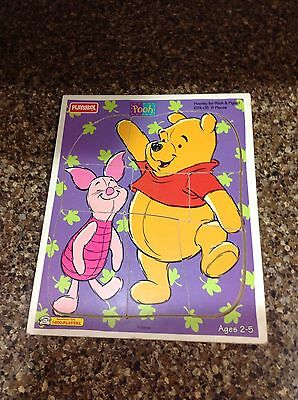Playskool Winnie the Pooh Hooray for Pooh & Piglet Wooden Puzzle 8 Piece