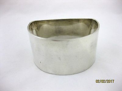 Solid Silver  LARGE & VERY HEAVY NAPKIN RING  Hallmarked  SHEFFIELD 1954
