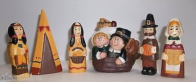 Midwest Of Cannon Falls Thanksgiving PILGRIMS Mayflower EDDIE WALKER 6 PCS