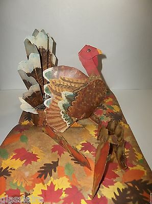 Vintage Hallmark Thanksgiving Turkey Pop Up Centerpiece Display