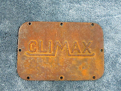 Climax Inspection Cover Plate  Builders Plate  Makers Plate