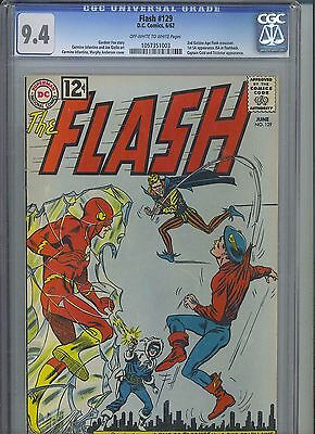 FLASH #129 CGC NM 9.4; OW-W; 2nd Golden Age Flash! 1st SA app JSA in flashback!