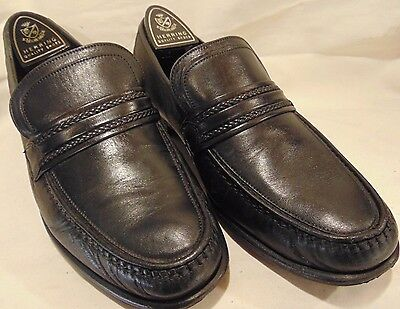 "Vintage ""loake Rome"" Handmade Calf Leather Moccasin Style Shoes Size 9 ""gx"""