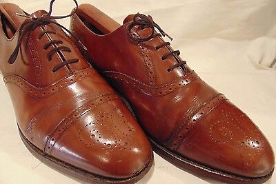 "Superb Vintage ""barkers"" Handmade Calf Leather Brogues Size 8.5 ""g"""