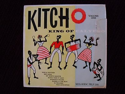 "Lord Kitchener MEGA RARE Melodisc 10"" Famous Calypso Bands MLP500 Microgroove"