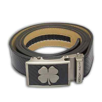 NEW Nexbelt Black Clover Series Live Lucky Cut to Fit Carbon Black Classic Belt