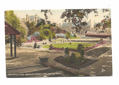 OULTON BROAD - POST OFFICE from NICHOLAS EVERITT PARK - OLD POSTCARD - SUFFOLK