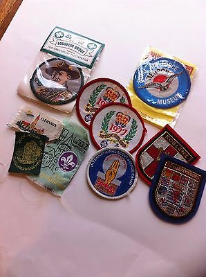 Assorted scout, Baden Powell, place badges, Koblenz
