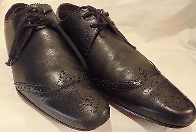 """ted Baker"" Black Lace Up All Calf Leather Brogues. Size 7  Eu 41"