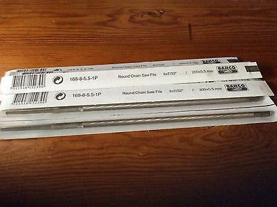Ten Bahco chainsaw files 168-6-3.5-1P 200x 5.5mm