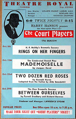 VINTAGE THEATRE ADVERT THEATRE ROYAL LEEDS maybe 1940s
