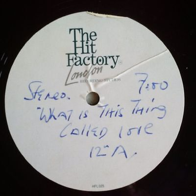 """Alexander O'neal - What Is This Thing Called Love 12"""" Acetate"""