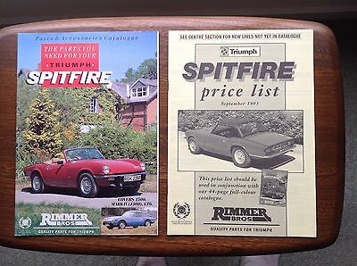 Triumph Spitfire Rimmer brothers parts and accessories catalogue