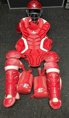 All Star System 7 Youth 9-12 Catchers Equipment ~ Red