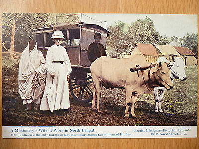 A Missionary's Wife At Work In Bengal Mrs Ellison Baptist Missionary Postcards