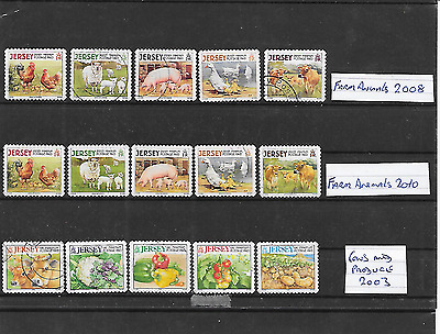 Jersey 3 S/a Sets Farm Animals/ Cows And Produce 2003/2008/2010   Nice Lot