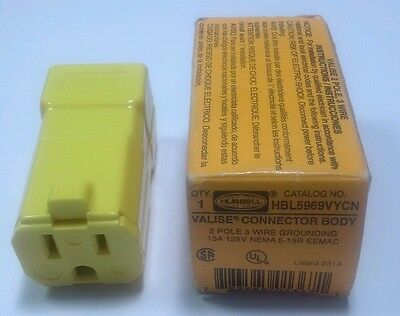 Hubbell HBL5969VYCN CONNECTOR BODY
