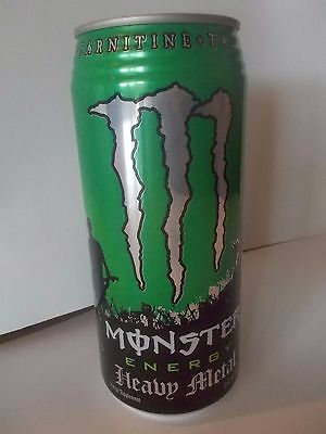 1 CAN ONLY 2007 Monster Energy Heavy Metal 32oz Can FULL Discontinued BFC