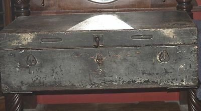 Ww1 Military Wooden Trunk With Brass Latches