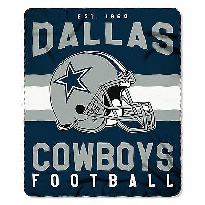 "New Northwest NFL Dallas Cowboys Soft Fleece Throw Blanket 50"" X 60"""