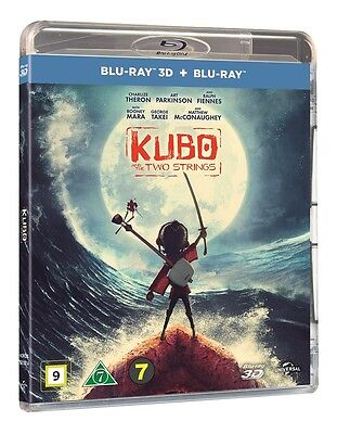 Kubo And The Two Strings 3D + 2D Blu Ray (Region Free)